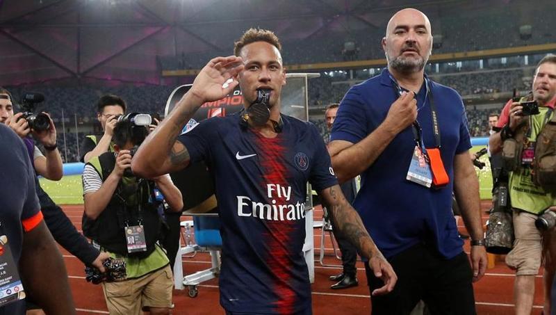 Неймар после матча суперкубка Франции против «Монако»