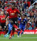 Поль Погба забивает пенальти в ворота «Лестер Сити»