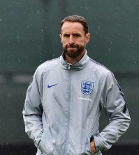 Гарет Саутгейт на тренировке сборной Англии