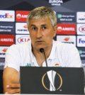 Кике Сетьен на пресс-конференции перед матчем с «Олимпиакосом»