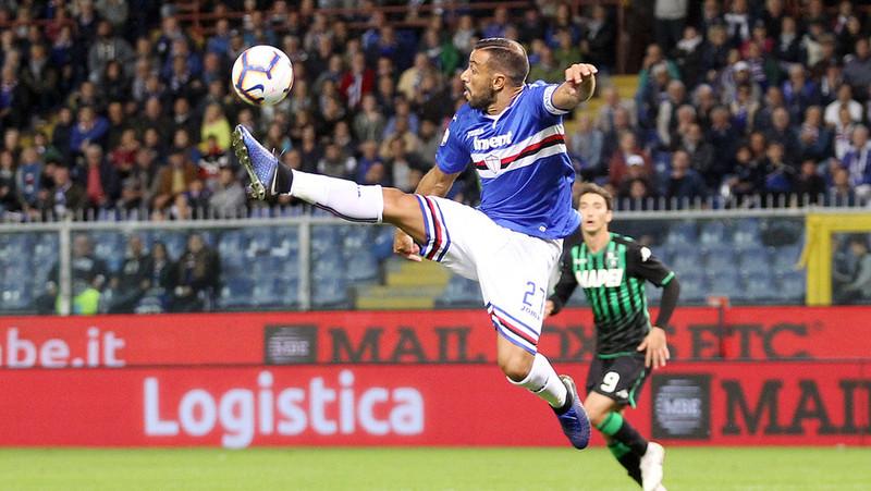 Фабио Квальярелла в домашнем матче «Сампдории» против «Сассуоло» (0:0)