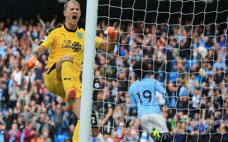 Джо Харт в выездном матче «Бёрнли»против «Манчестера Сити» (5:0)