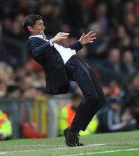 Марселино в выездном матче «Валенсии» против «Манчестера Юнайтед» (0:0)
