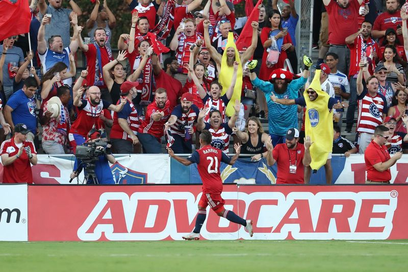 Майкл Барриос в домашнем матче «Далласа» против «Орландо Сити» (2:0)