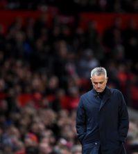 Жозе Моуринью в домашнем матче «Манчестера Юнайтед» против «Ньюкасла Юнайтед» (3:2)