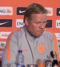 Роналд Куман на пресс-конференции перед домашним матчем против Германии