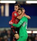 Игроки «Саутгемптона» в выездном матче кубка английской лиги против «Эвертона» (1:1, пен. 3:4)