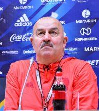 Станислав Черчесов на пресс-конференции перед матчем против сборной Швеции