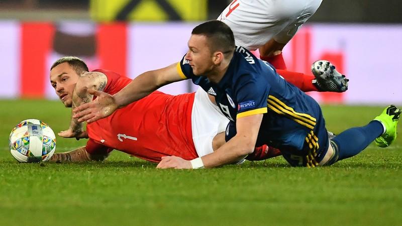 Марко Арнаутович в домашнем матче сборной Австрии против Боснии и Герцеговины (0:0)