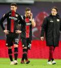 Игроки «Байера» после выездного матча против «РБ Лейпцига» (3:0)