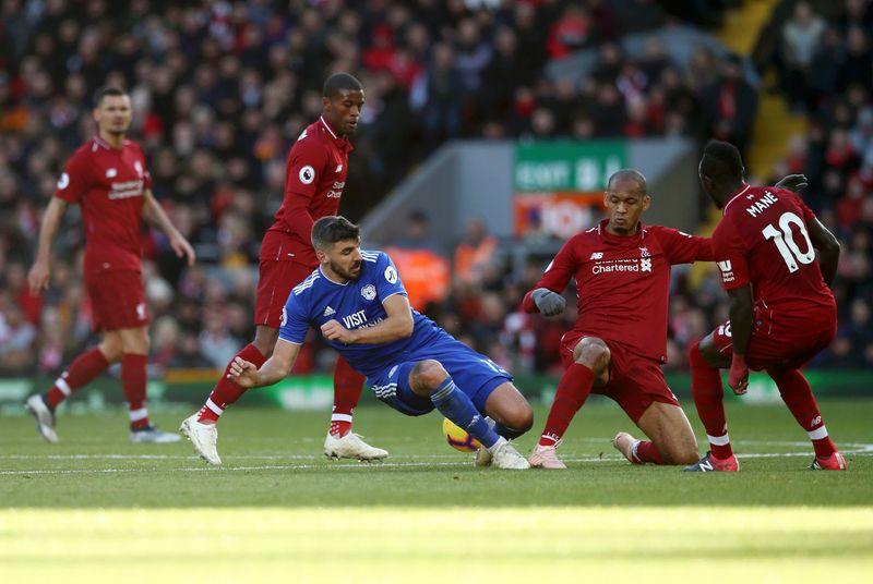 Каллум Патерсон в выездном матче «Кардиффа Сити» против «Ливерпуля» (4:1)