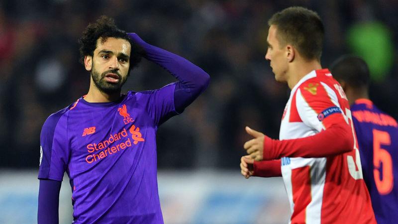 Мохамед Салах в выездном матче «Ливерпуля» против «Црвена Звезды» (2:0)