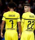 Санчо и Пулишич в выездном матче «Боруссии Дортмунд» против «Атлетико» (2:0)