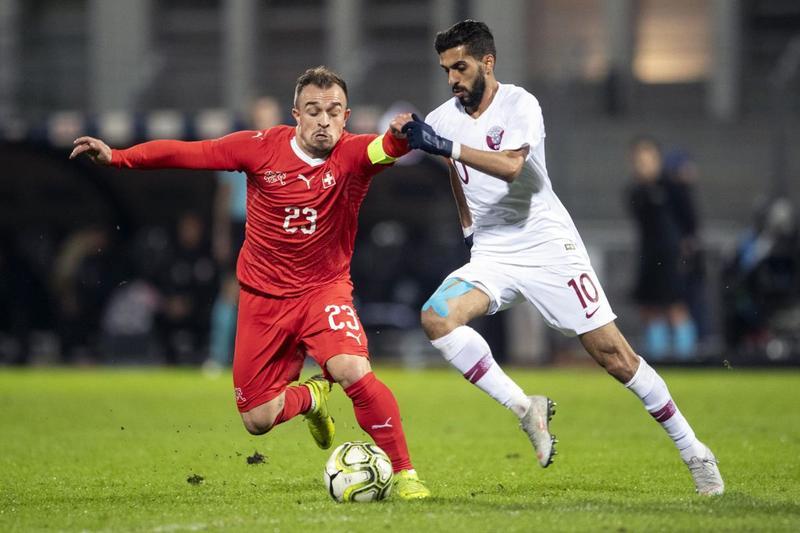 Джердан Шакири в домашнем матче сборной Швейцарии против Катара (0:1)
