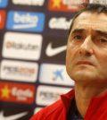 Эрнесто Вальверде на пресс-конференции перед выездным матчем «Барселоны» против «Атлетико»