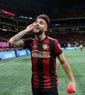 Эктор Вильяльба в домашнем матче «Атланта Юнайтед» против «Нью-Йорк Ред Буллз» (3:0)