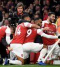 Игроки «Арсенала» в домашнем матче против «Тоттенхэма» (4:2)