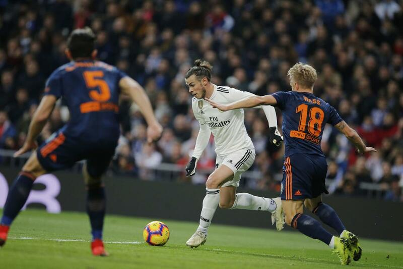 Гарет Бейл в домашнем матче «Реал Мадрида»против «Валенсии» (2:0)