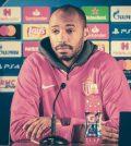 Тьерри Анри на пресс-конференции перед домашним матчем «Монако»против «Боруссии Дортмунд»