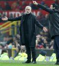 Жозе Моуринью и Унаи Эмери в домашнем матче «Манчестер Юнайтед»против «Арсенала» (2:2)