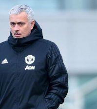 Жозе Моуринью на тренировке «Манчестер Юнайтед»