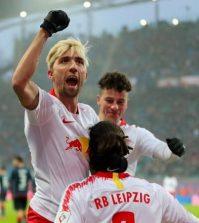 Фото с матча РБ Лейпциг 4:1 Майнц