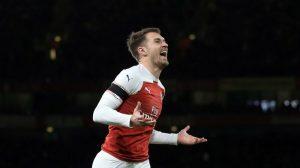 Аарон Рэмзи в домашнем матче «Арсенала» против «Фулхэма» (4:1)