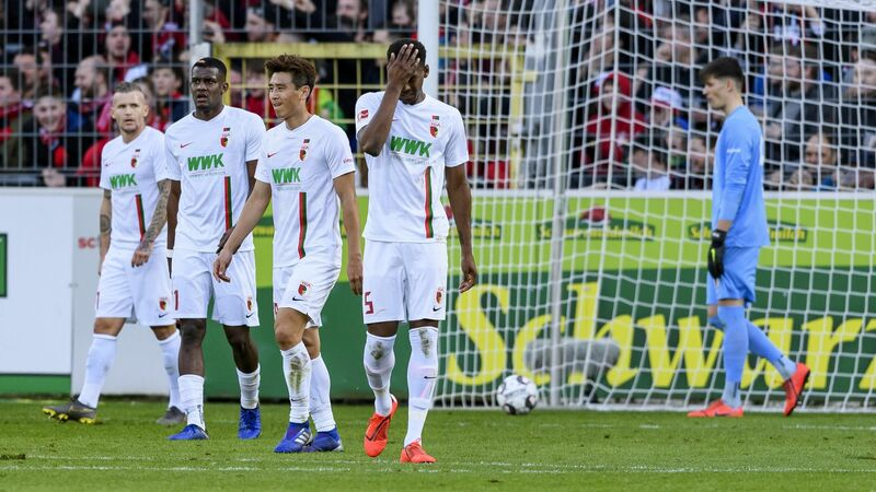 Фото с матча Фрайбург 5:1 Аугсбург