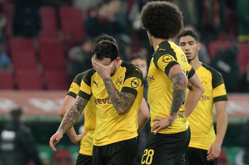 Фото с матча Аугсбург 2:1 Боруссия Дортмунд