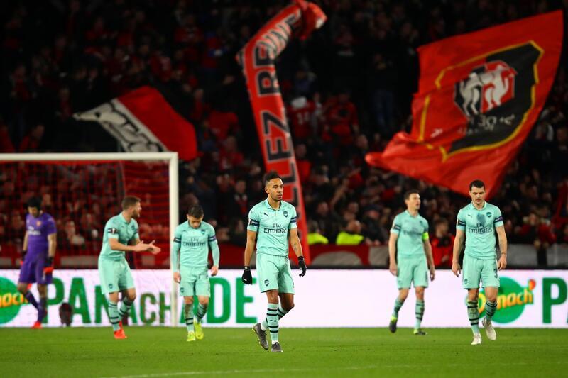 Фото с матча Ренн 3:1 Арсенал