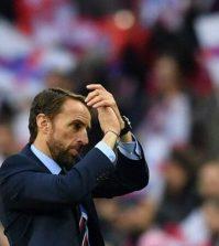 Гарет Саутгейт в домашнем матче сборной Англии против Хорватии (2:1)