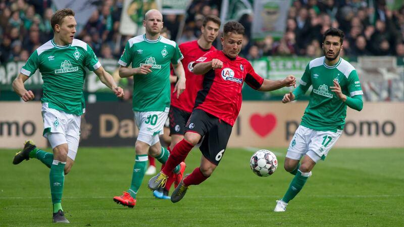 Фото с матча Вердер 2:1 Фрайбург