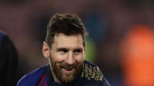 Лионель Месси в домашнем матче «Барселоны» против «Леванте» (победа 1:0)