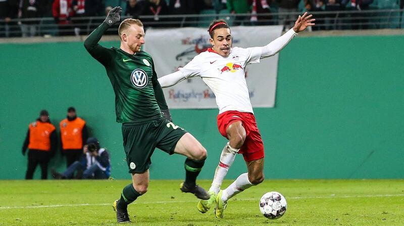Фото с матча РБ Лейпциг 2:0 Вольфсбург