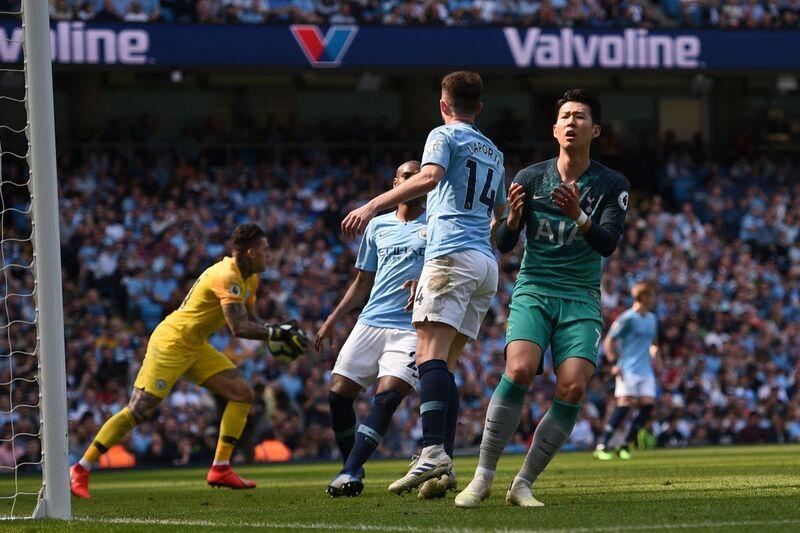 Фото с матча Манчестер Сити 1:0 Тоттенхэм