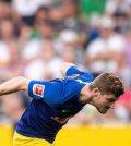 Тимо Вернер в выездном матче «РБ Лейпцига» против «Боруссии Мёнхенгладбах» (победа 1:2)