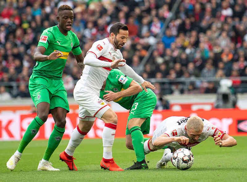 Фото с матча Штутгарт 1:0 Боруссия Мёнхенгладбах