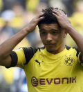 Джейдон Санчо в домашнем матче «Боруссии Дортмунд» против «Шальке» (поражение 2:4)
