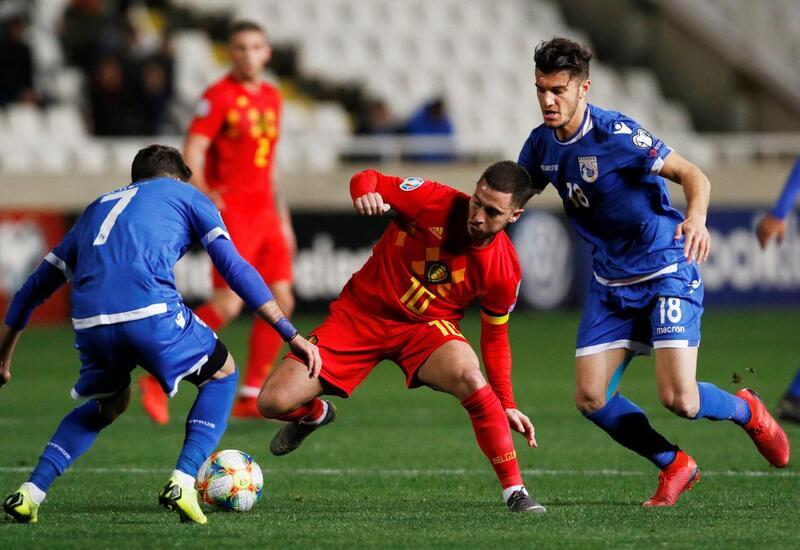 Фото с матча Кипр 0:2 Бельгия