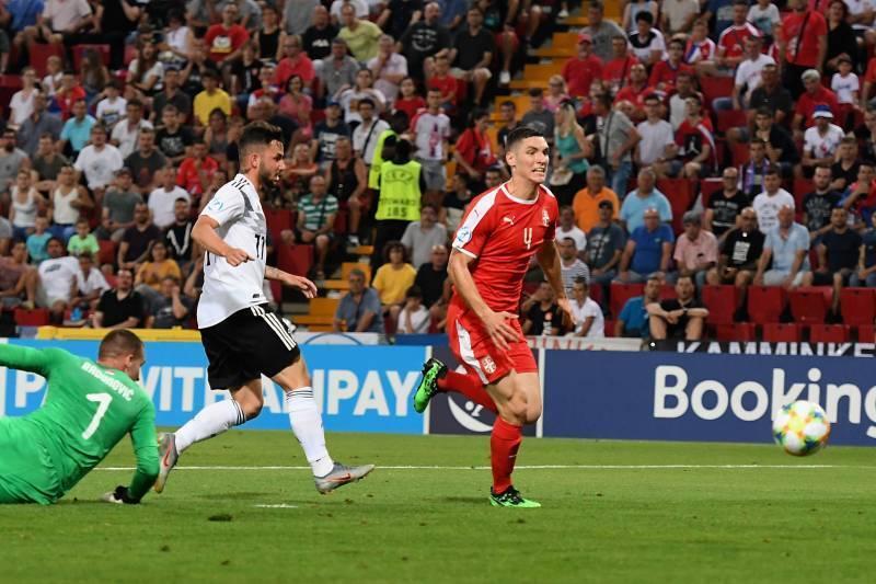 Фото с матча Германия 6:1 Сербия (сборные до 21-го года)