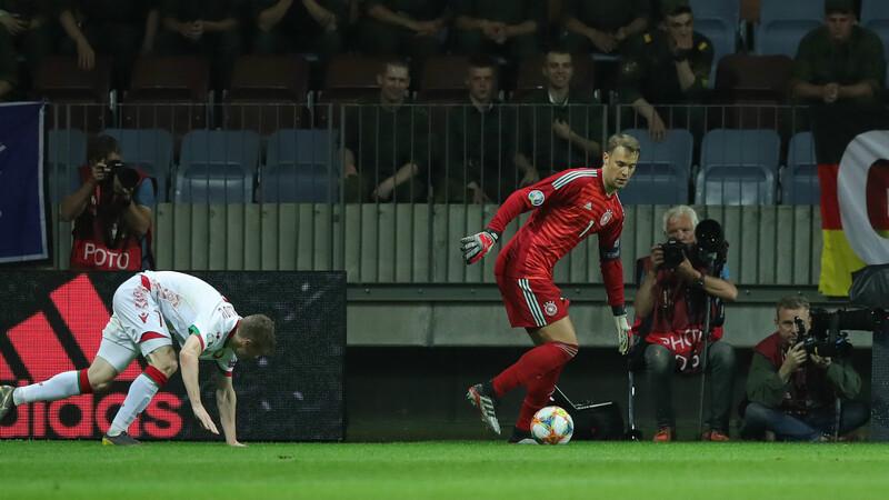 Фото с матча Беларусь 0:2 Германия