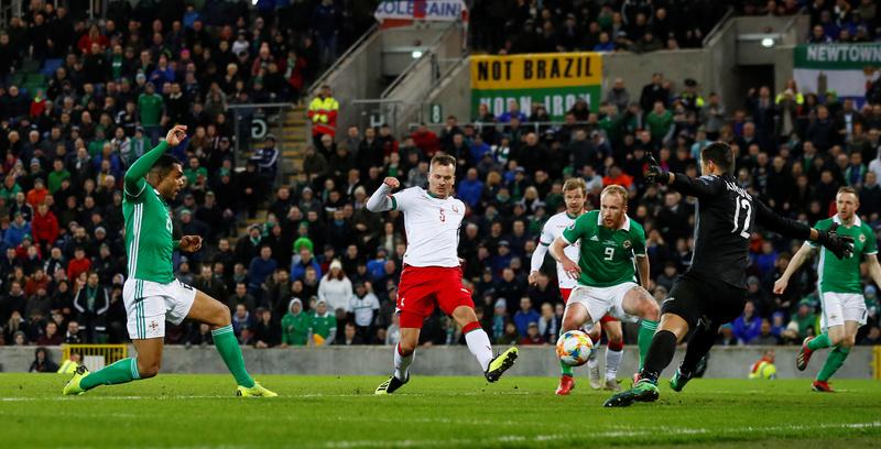Фото с матча Северная Ирландия 2:1 Беларусь