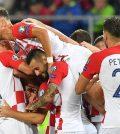 Фото с матча Словакия 0:4 Хорватия