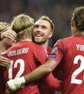 Фото с матча Гибралтар 0:6 Дания