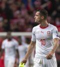 Фото с матча Дания 1:0 Швейцария