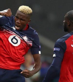 Нападающий французской футбольной команды лилль