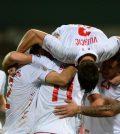 Фото с матча Люксембург 1:1 Черногория