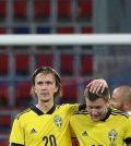 Фото с матча Россия 1:2 Швеция